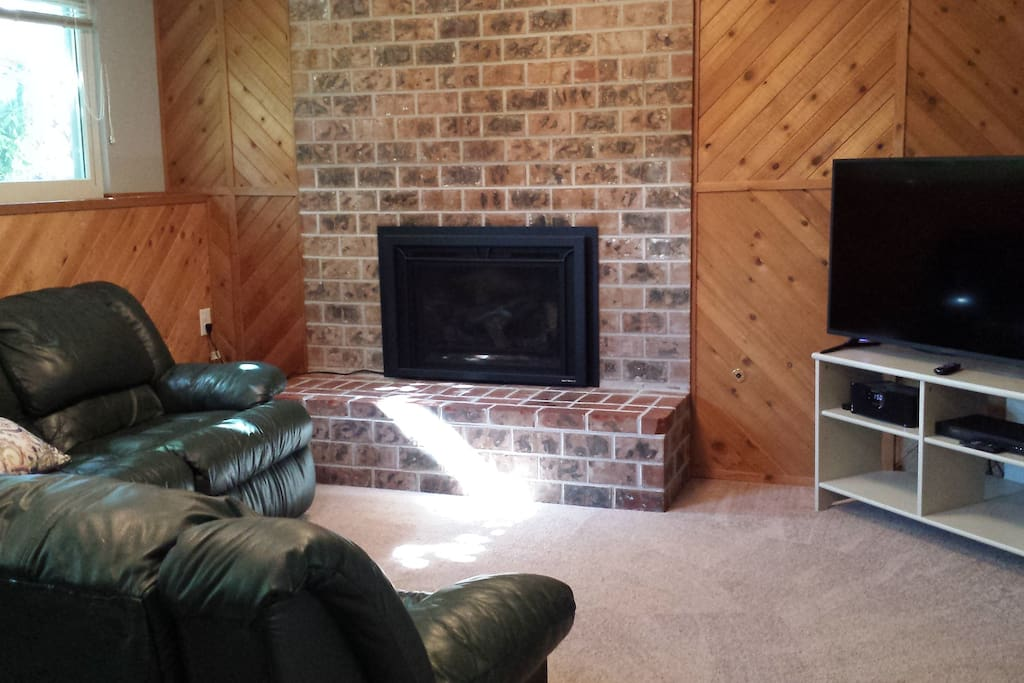Private Family room Roku TV & Gas Fireplace