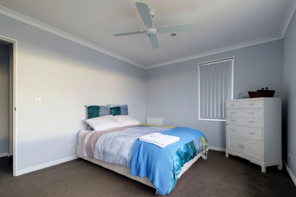 Decent size bedroom - view of southern alps, walk in wardrobe - own bathroom