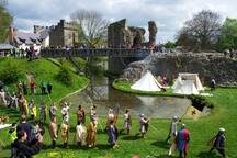 Whittington castle re-enactment