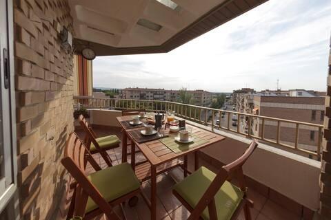 Apartamento con terraza, para familias