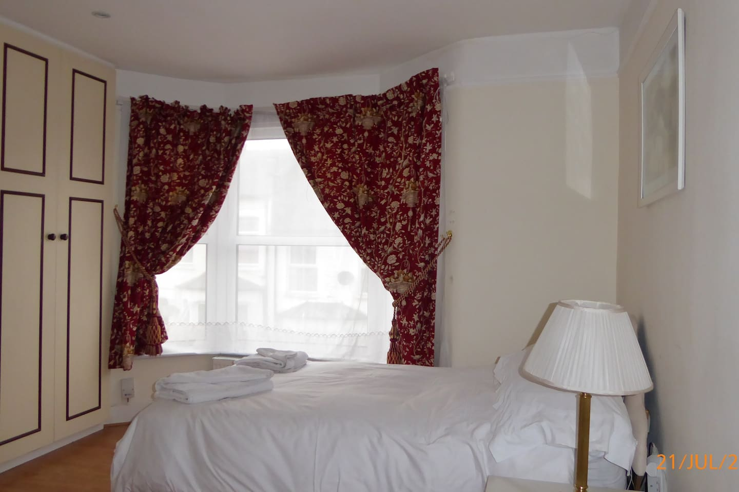 Enjoy a restful sleep in our Doubled Bed..
