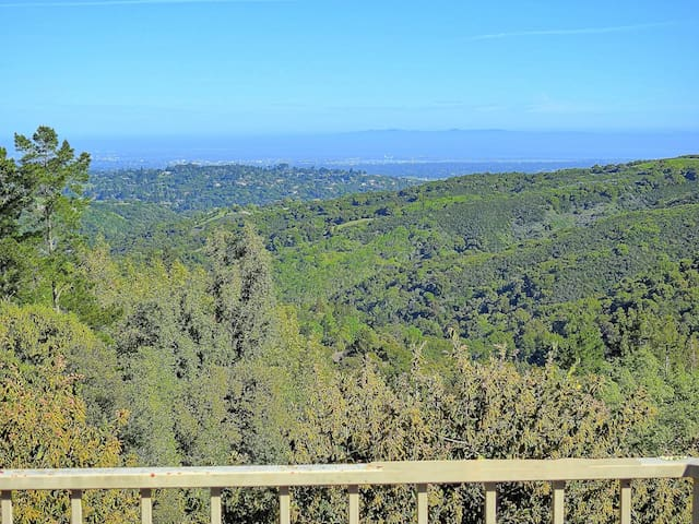 Large house with views near Palo Alto - Portola Valley - Huis