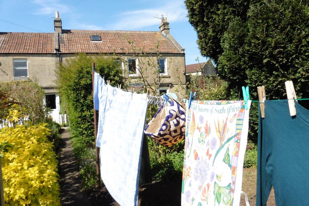 Washing is line-dried on fine days.