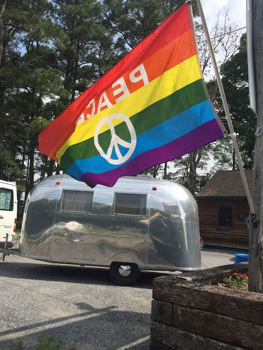 You will find peace in our beautiful Airstream