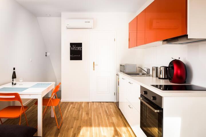 New modern apartment near city centre *terrace