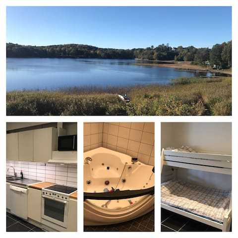 LakeFront, free park, 8+2beds, Wifi