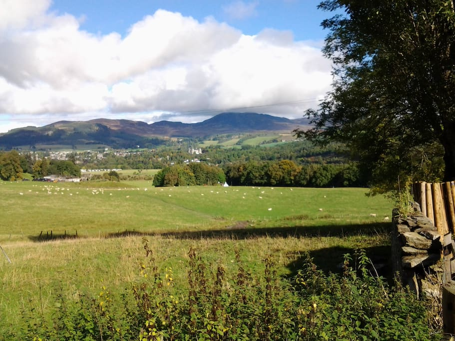 View of Pitlochry and Ben Vrackie.