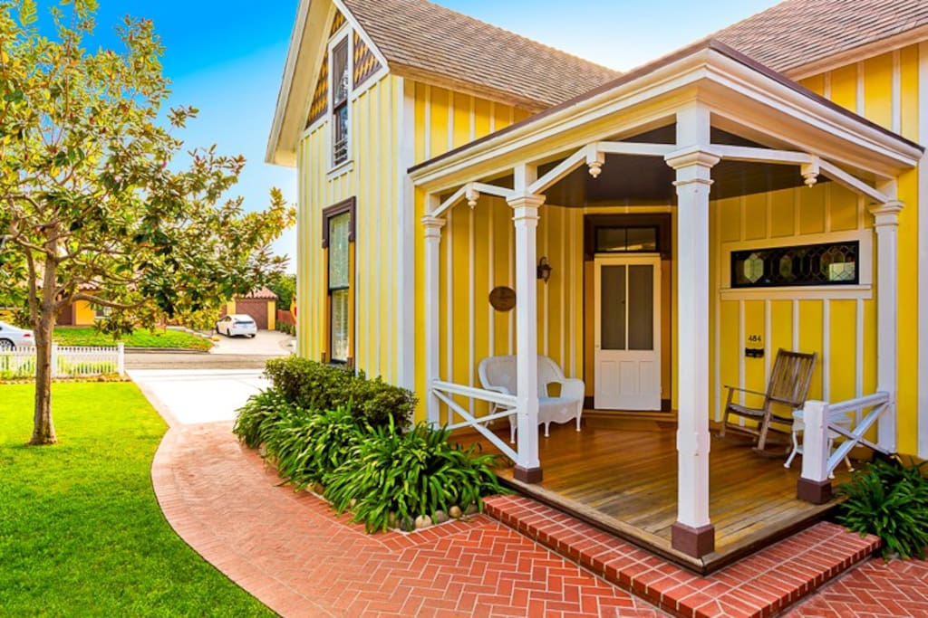 Historical 2 bedroom home has a cozy porch  for relaxing on lazy summer afternoons.