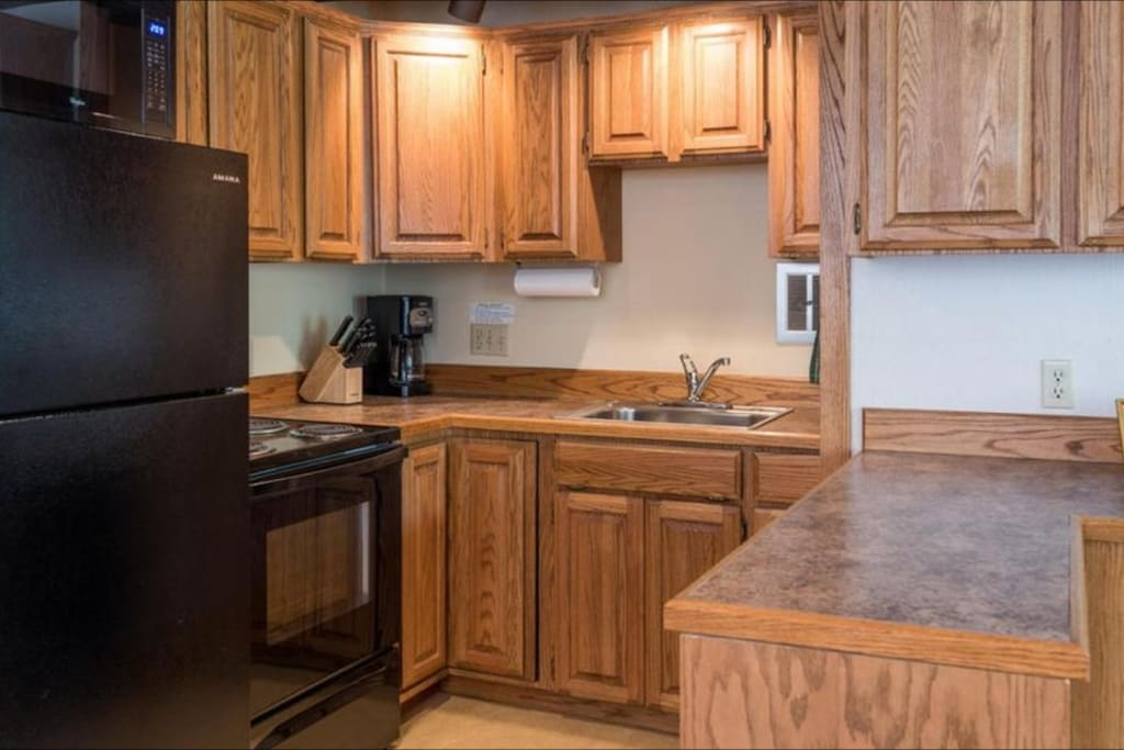 Cook for the family or for yourself on a nice relaxing getaway. All of your cooking needs satisfied with complete assortment of utensils and appliances.
