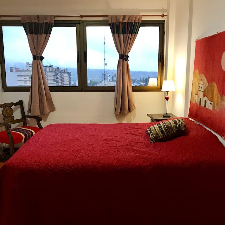 King Size Bed Room+PRIVATE Bathroom Plaza Belgrano