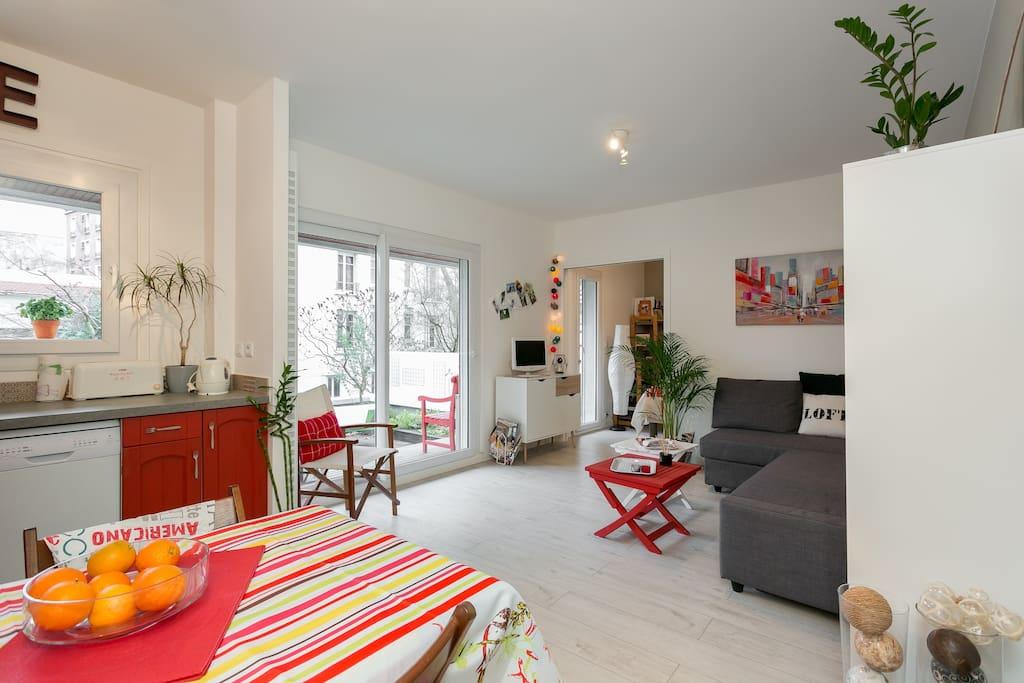 2 pi ces avec terrasse jardin appartements louer - Mobilier jardin grenoble boulogne billancourt ...