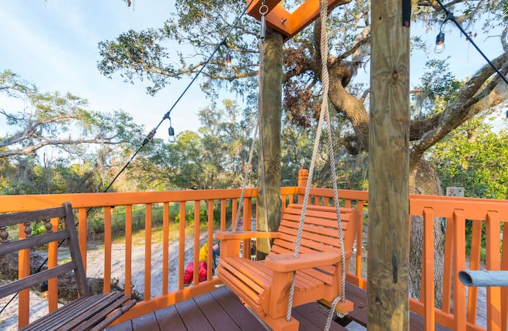 Swing on the upper deck