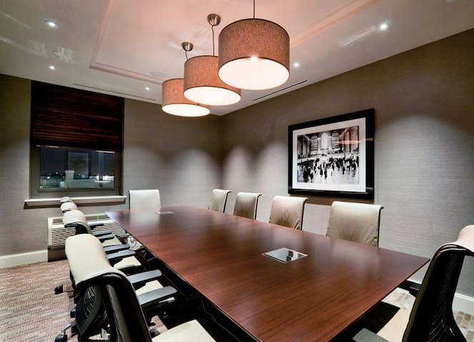 Building amenities: conference center on site.