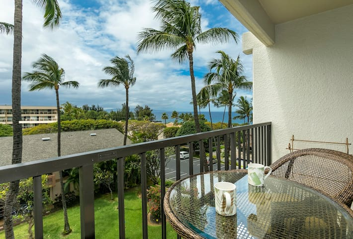 C505 Ocean views from lovely condo in South Maui