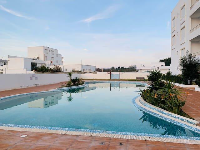 Appartement Rez-de-chaussée Hamamet avec piscine