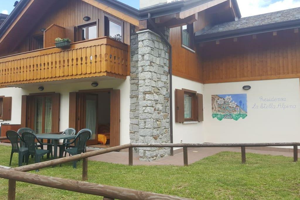 Casa con giardino e camino a Temù vicino agli impianti