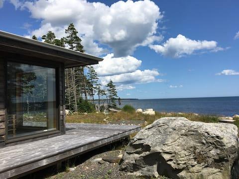 Modern Architecture Retreat at the Atlantic Ocean.
