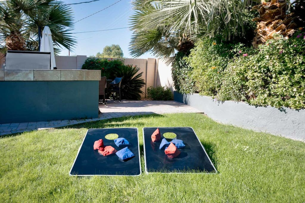 Play a game of cornhole!