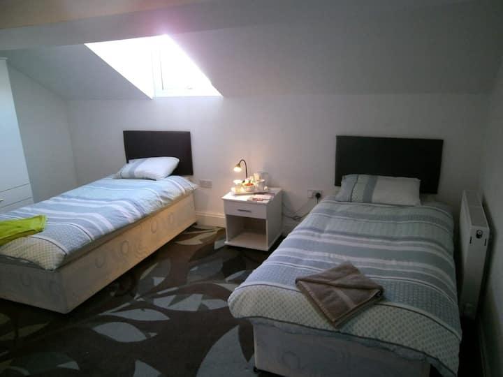 Twin en-suite HOTEL ROOM (Room 8)