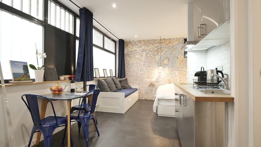 Comfy Studio near Canal Saint Martin