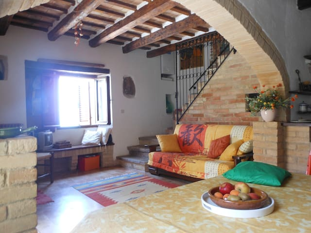 Sea side house in fairy medieval Torre di Palme
