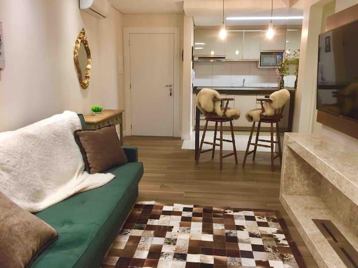 Gramado-Apartamento Novo-perto da rua Coberta.
