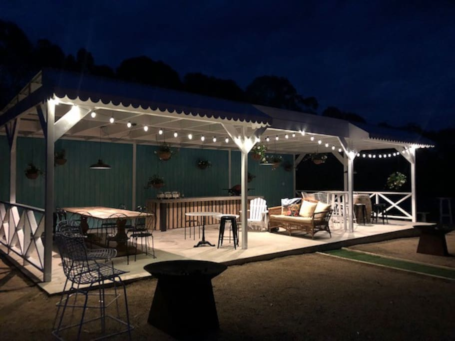 pergola by night