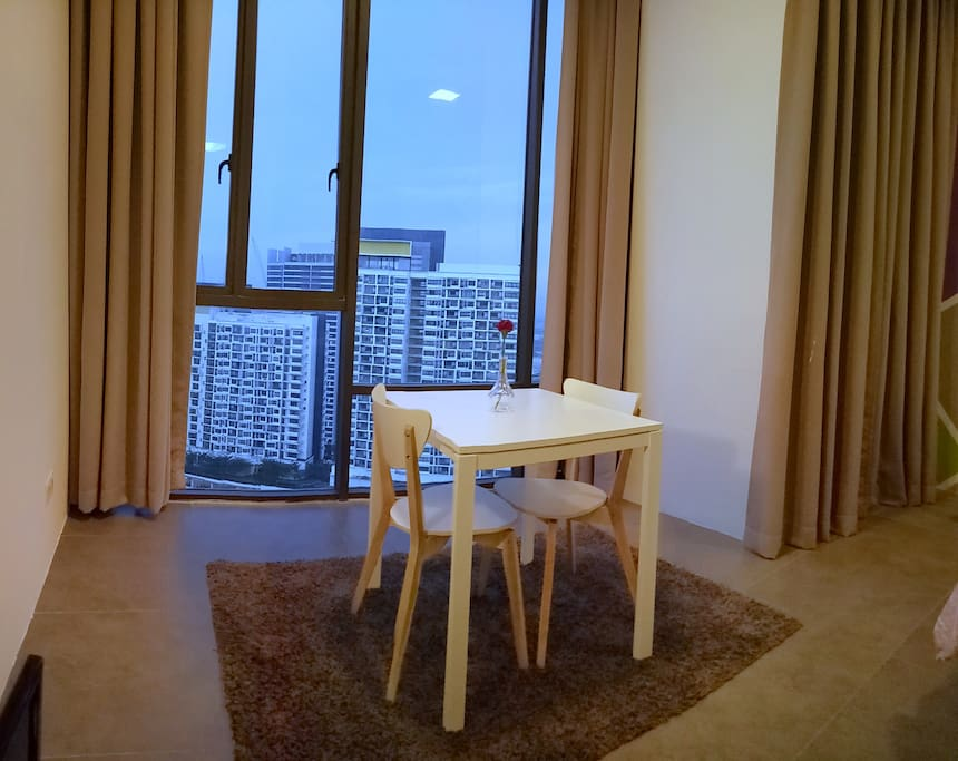 Dining Space suitable for couple and candle light dinner