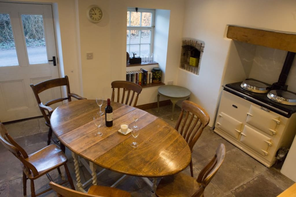 dining area and aga