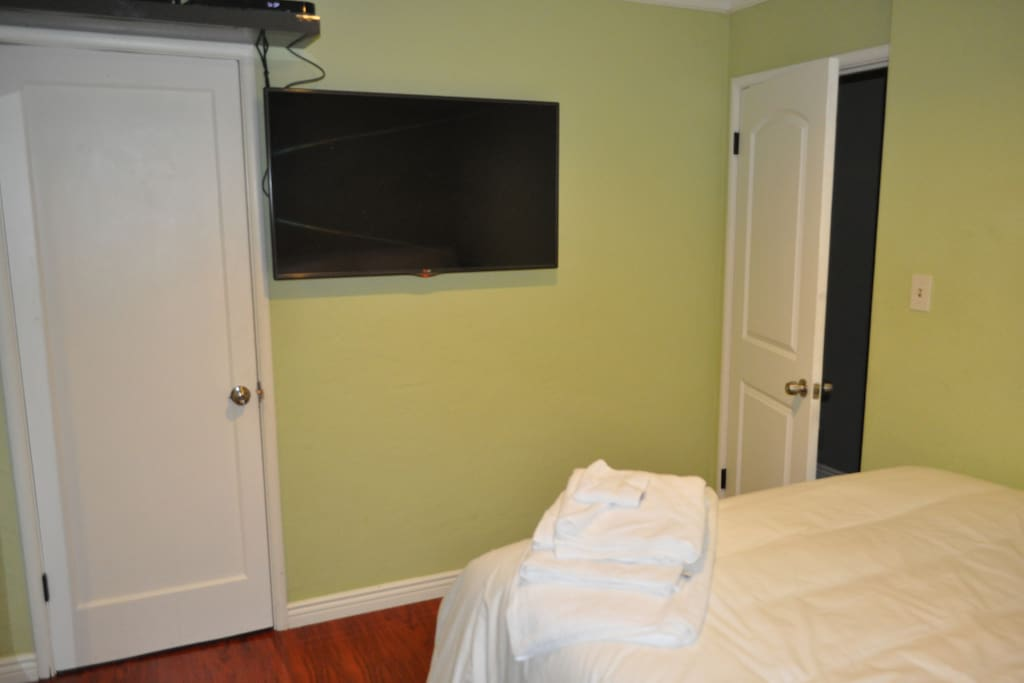 42 in TV with Satellite in room   Locked Closet for your use