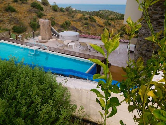 Saronic Citadel villa castle on Salamina island