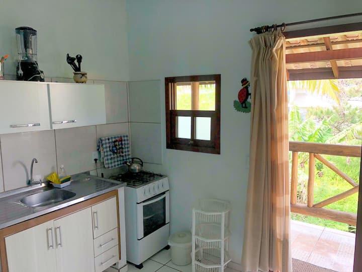 Espaço inteiro - 1 quarto, Sala, Cozinha, ar cond.