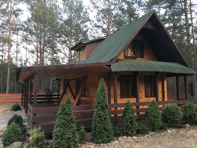 "Beautiful wooden cottage ""Majowka"""