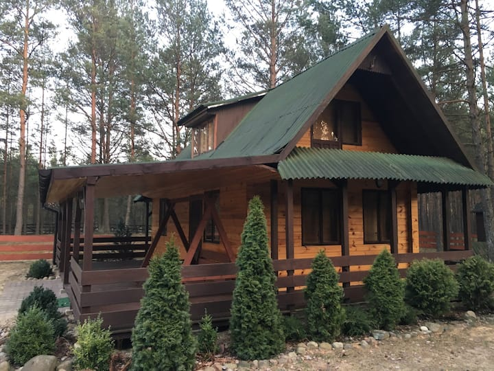 "Beautiful wooden cottage ""Majowka"""