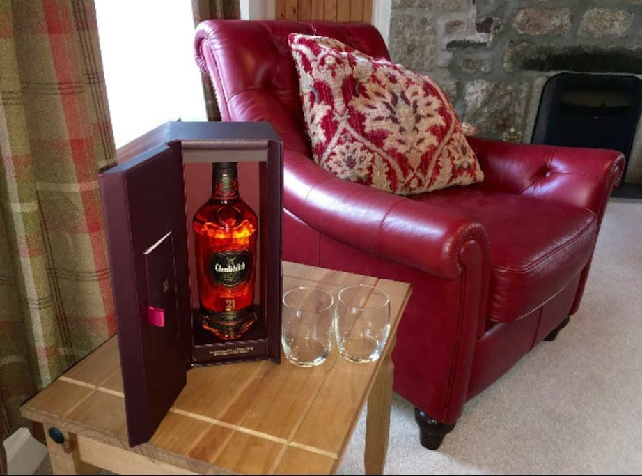 The perfect cottage to chill out with a Wee dram or glass of wine in front of the fire after a day of exploring.