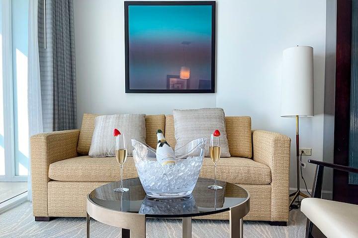 FontaineBleau Resort, Balcony w/ Ocean + City View