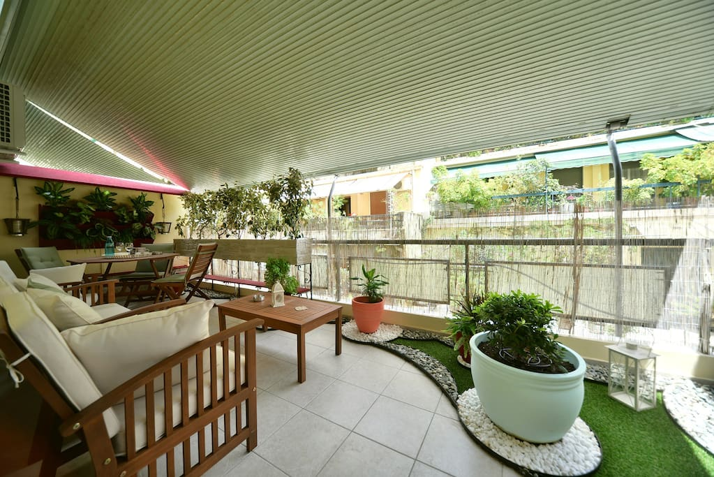 enjoy the unique private terrace of Athens Home 2
