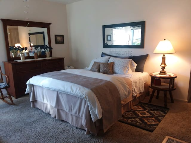 Come relax and enjoy the back country's beauty,  peace and quiet.   Your room A Little Gem truly is a little gem .... please enjoy the very comfy accommodations!