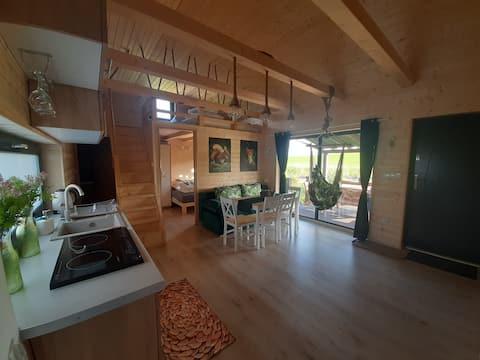 Casa vicino al fiume - appartamento di campagna in legno