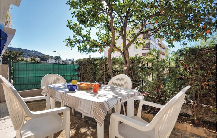 Stunning home in Le Cannet with 1 Bedrooms