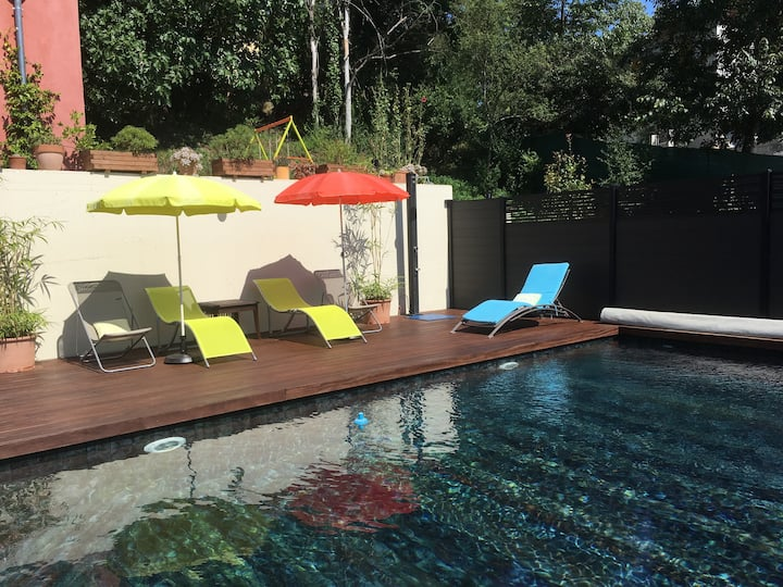 Villa contemporaine, piscine privée