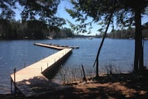 Dingley Bluffs on Sebago Lake. Private home.