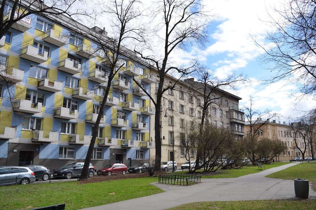 Modernist architecture block (built 1959-61)