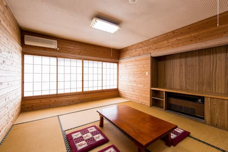 6 mins by car from Hakuba sta! Accommodation with Kampo's secret law hot water (5 pax)