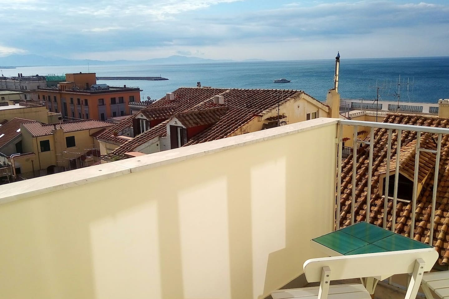 Balcony sea view from Dogana Regia room- B&B Salerno in Alto Mare