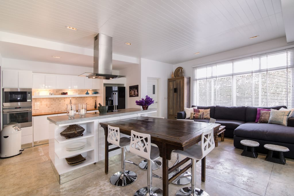 kitchen dining and TV nook