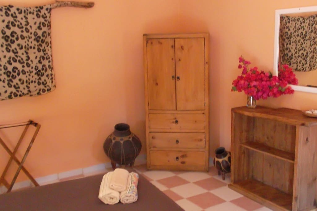 The armoire and a dresser
