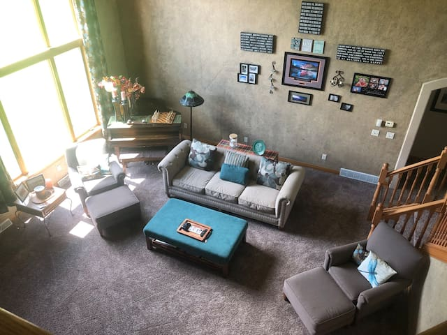 Main living room (tv and XBox with Netflix and HBO Go)