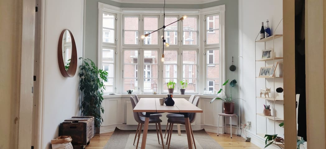 Private Room in Stylish Light Apartment, Østerbro