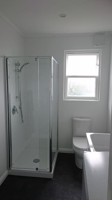 Bathroom with washer
